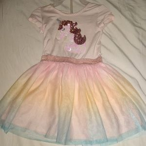 Unicorn glittery 2t dress